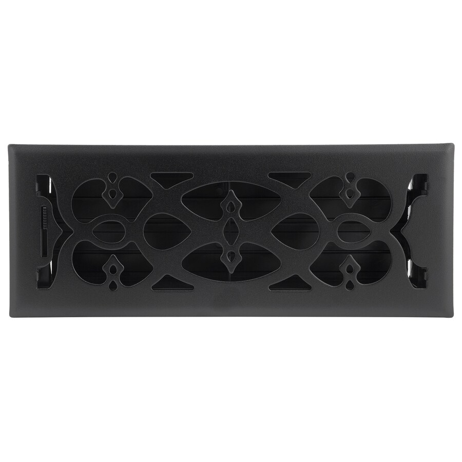 Accord Select Victorian Matte Black Steel Floor Register