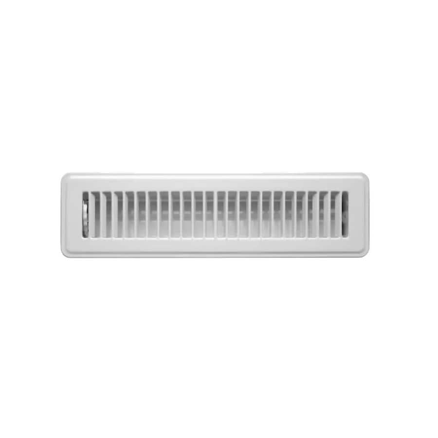 Accord Ventilation 101 Series White Steel Floor Register (Rough Opening: 14-in x 2-in; Actual: 15.51-in x 3.76-in)
