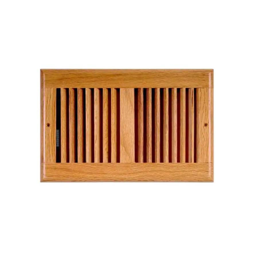 Accord Select Oak Light Oak Wood Louvered Sidewall/Ceiling Grilles (Rough Opening: 10-in x 6-in; Actual: 11.46-in x 7.48-in)