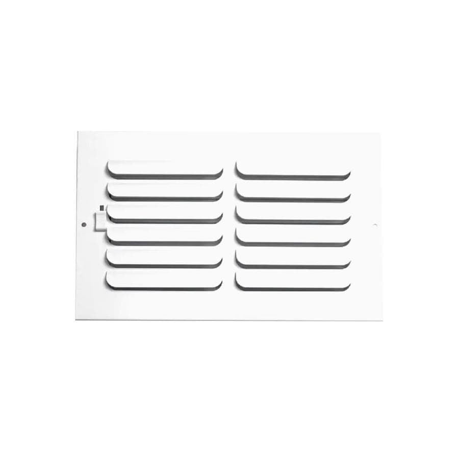Accord Ventilation 261 Series Painted Steel Sidewall/Ceiling Register (Rough Opening: 4.0-in x 8.0-in; Actual: 5.74-in x 9.77-in)