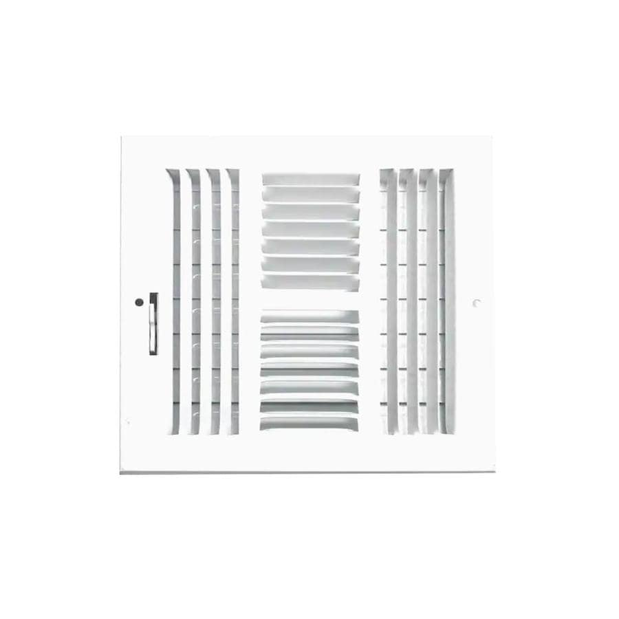 Accord Ventilation 204 Series Painted Steel Sidewall/Ceiling Register (Rough Opening: 10.0-in x 10.0-in; Actual: 11.73-in x 11.73-in)