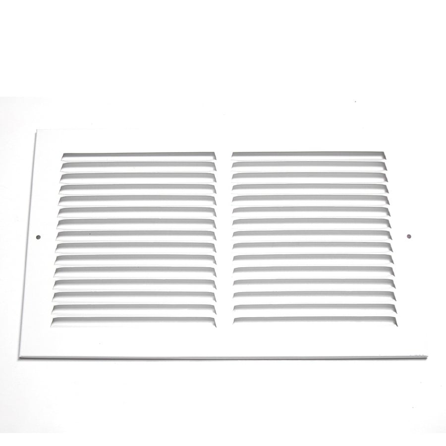 Accord 24-in x 10-in White Steel Return Grille