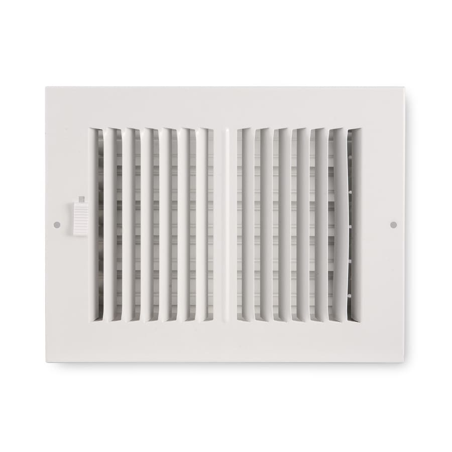 Accord Ventilation 202 Series Painted Steel Sidewall/Ceiling Register (Rough Opening: 6.0-in x 8.0-in; Actual: 7.76-in x 9.77-in)