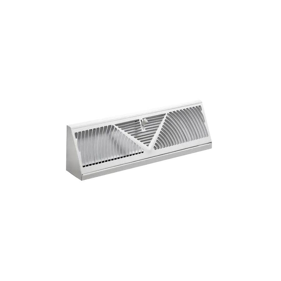 Accord Ventilation 150 White Steel Baseboard Diffuser (Rough Opening: 21-in x 2.5-in; Actual: 24-in x 2.75-in)