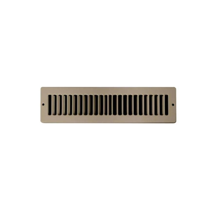 Accord Ventilation 105 Series Brown Steel Louvered Toe Space Grilles (Rough Opening: 2-in x 10-in; Actual: 3.42-in x 11.12-in)