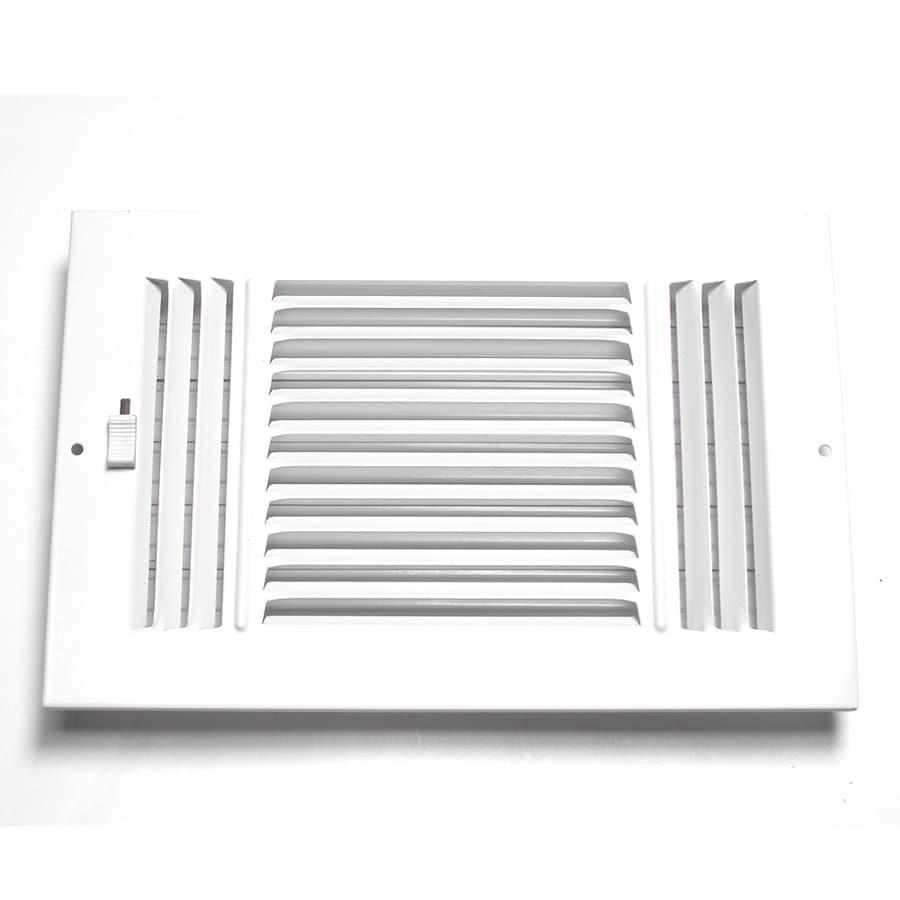 Accord White Steel Sidewall Ceiling Register  Rough Opening  10 in x 8. Shop Accord White Steel Sidewall Ceiling Register  Rough Opening