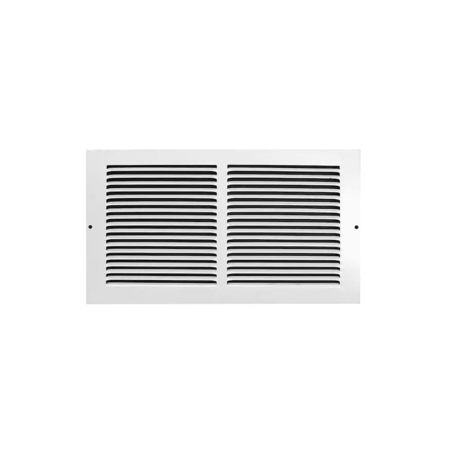 Accord Ventilation 195 Series White Steel Louvered Baseboard Grilles (Rough Opening: 12-in x 6-in; Actual: 13.74-in x 7.8-in)