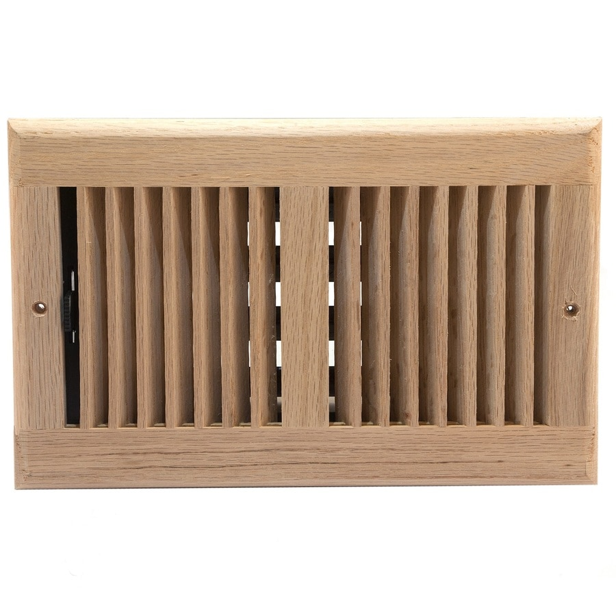 Accord Oak Unfinished Wood Sidewall/Ceiling Register (Rough Opening: 6-in x 10-in; Actual: 7.5-in x 11.5-in)