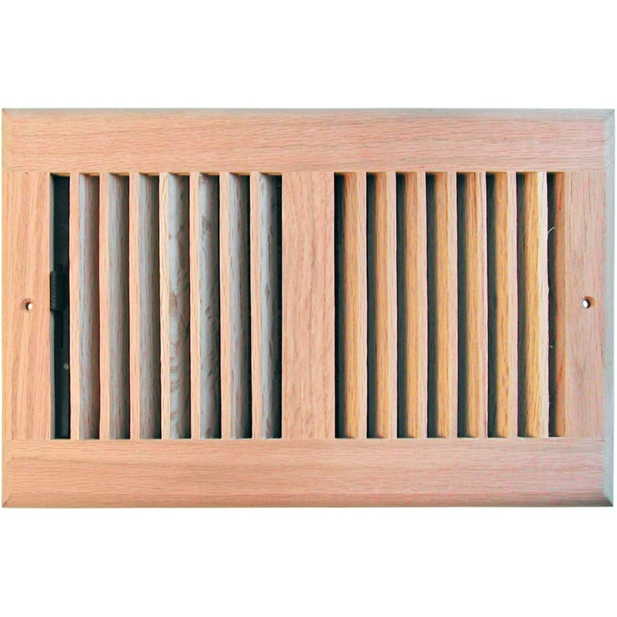 Accord 6-in x 12-in Unfinished Wood Wall/Ceiling Register
