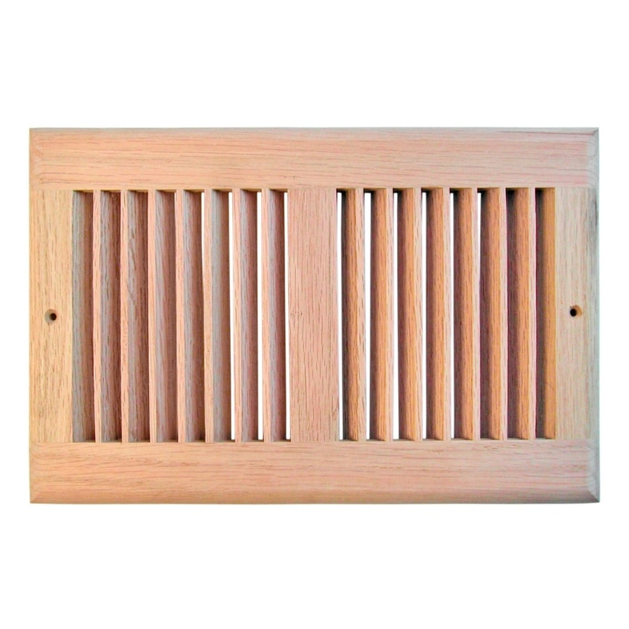 Accord Oak Unfinished Oak Wood Louvered Sidewall/Ceiling Grilles (Rough Opening: 12-in x 6-in; Actual: 13.5-in x 7.5-in)