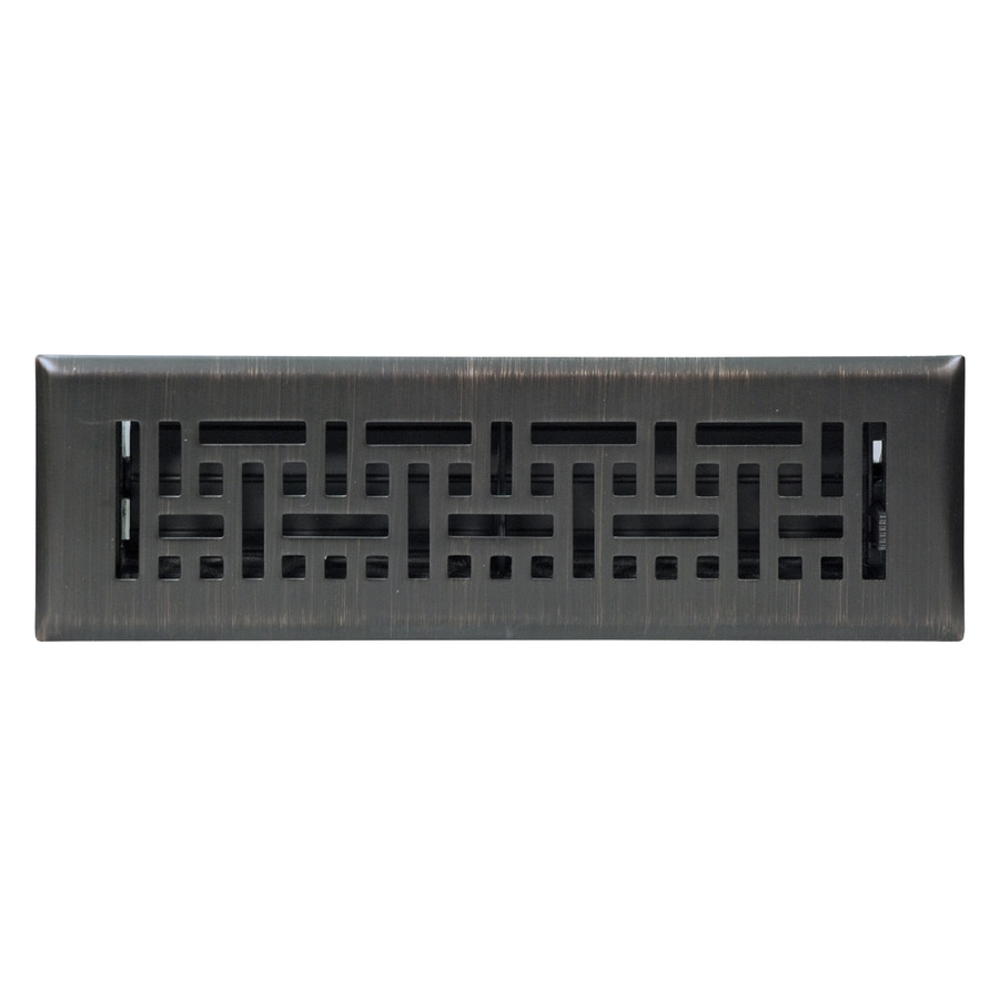 Delightful Accord Wicker Oil Rubbed Bronze Steel Floor Register (Rough Opening: 10.0 In