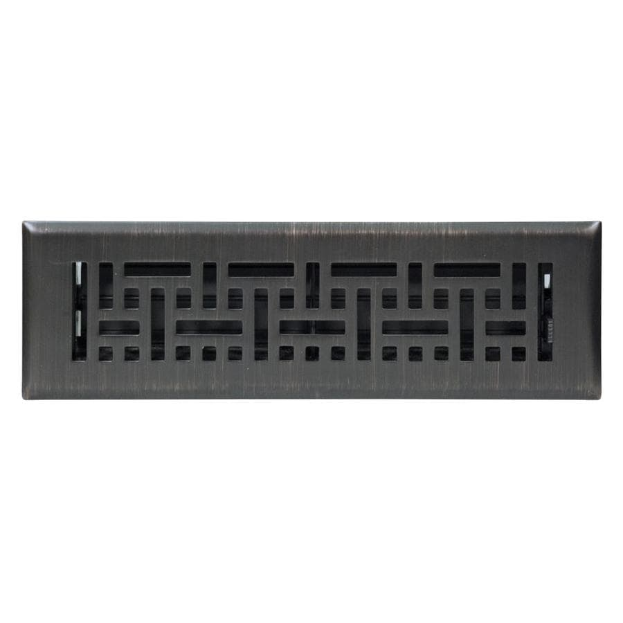 Accord 2-in x 12-in Oil-Rubbed Bronze Steel Floor Register