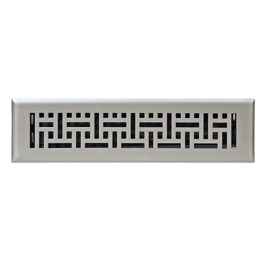 Accord Wicker Satin Nickel Steel Floor Register (Rough Opening: 12.0 In X  2.0