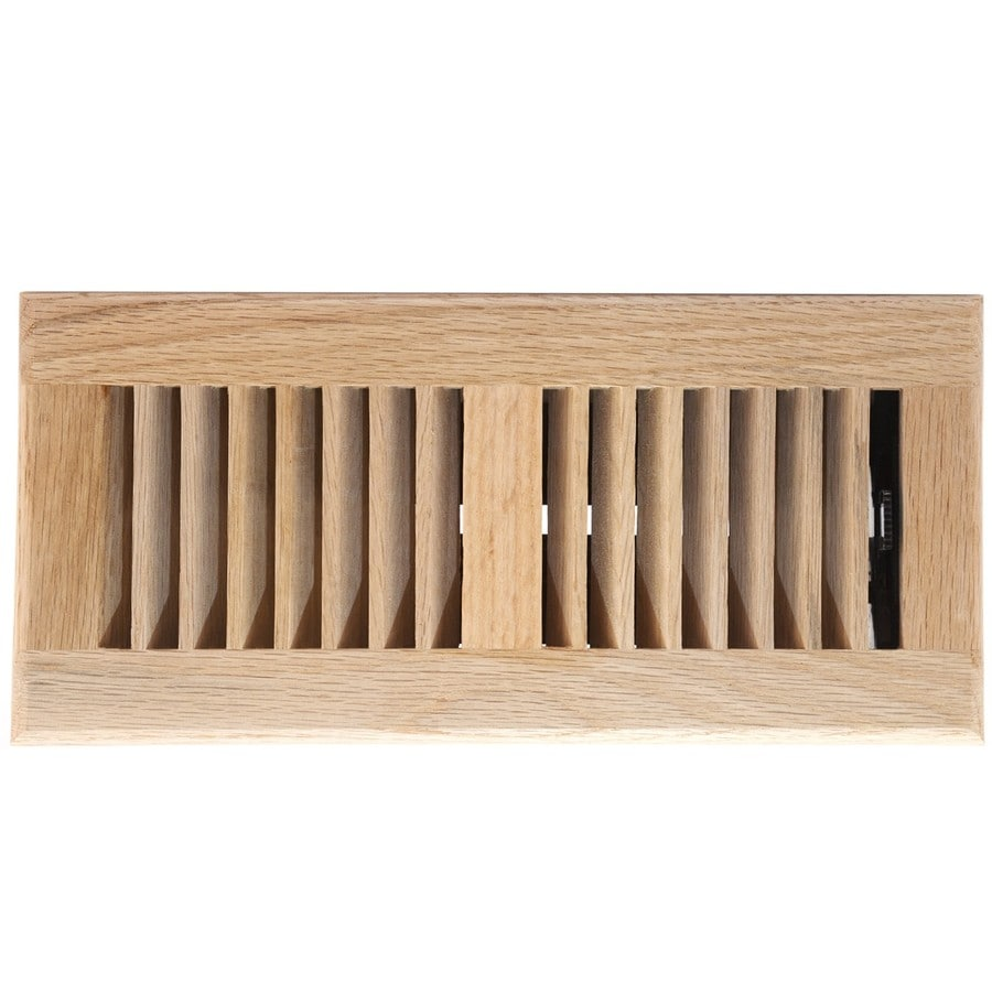 Shop accord oak wood floor register duct opening 4 in x for 6x12 wood floor register