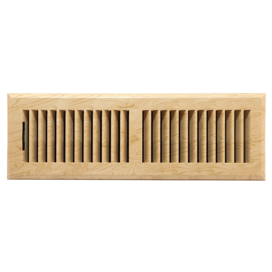 allen + roth Louvered ABS Resin Floor Register (Rough Opening: 14-in x 4-in; Actual: 15.42-in x 5.37-in)