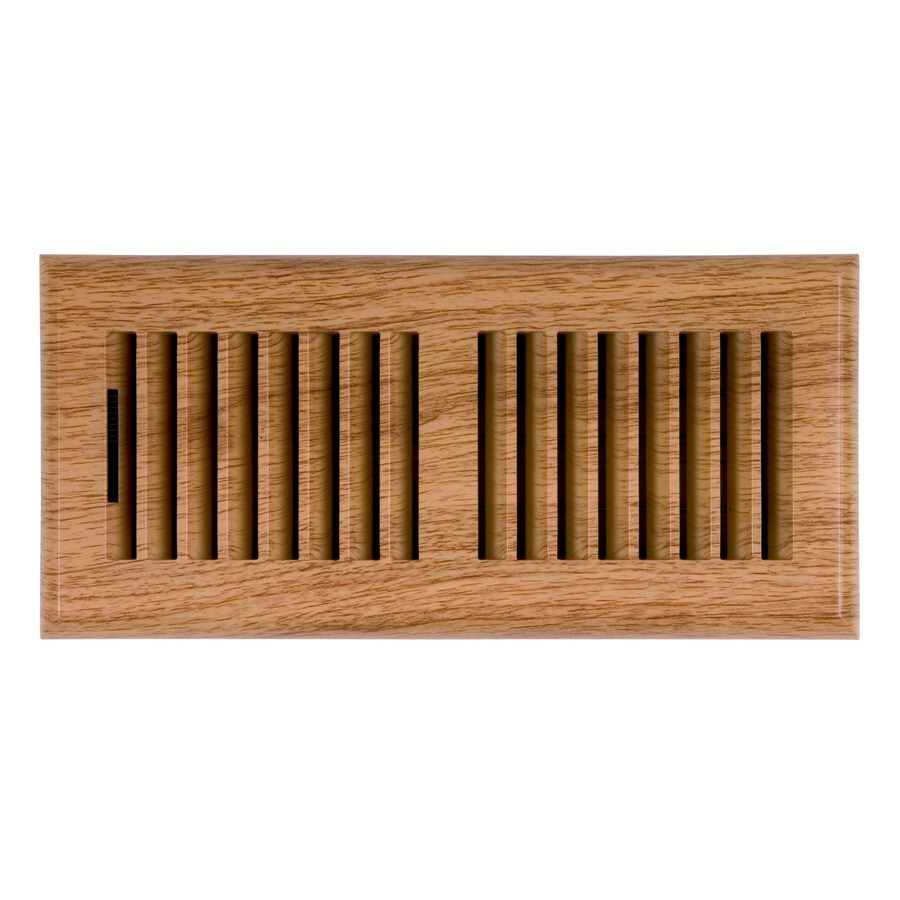 allen + roth Louvered ABS Resin Floor Register (Rough Opening: 4-in x 14-in; Actual: 5.37-in x 15.42-in)