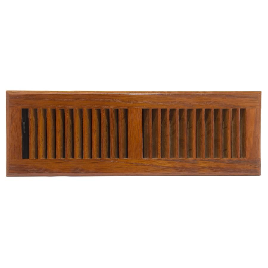 allen + roth Oak Medium Stain Wood Floor Register (Rough Opening: 4-in x 14-in; Actual: 5.37-in x 15.42-in)