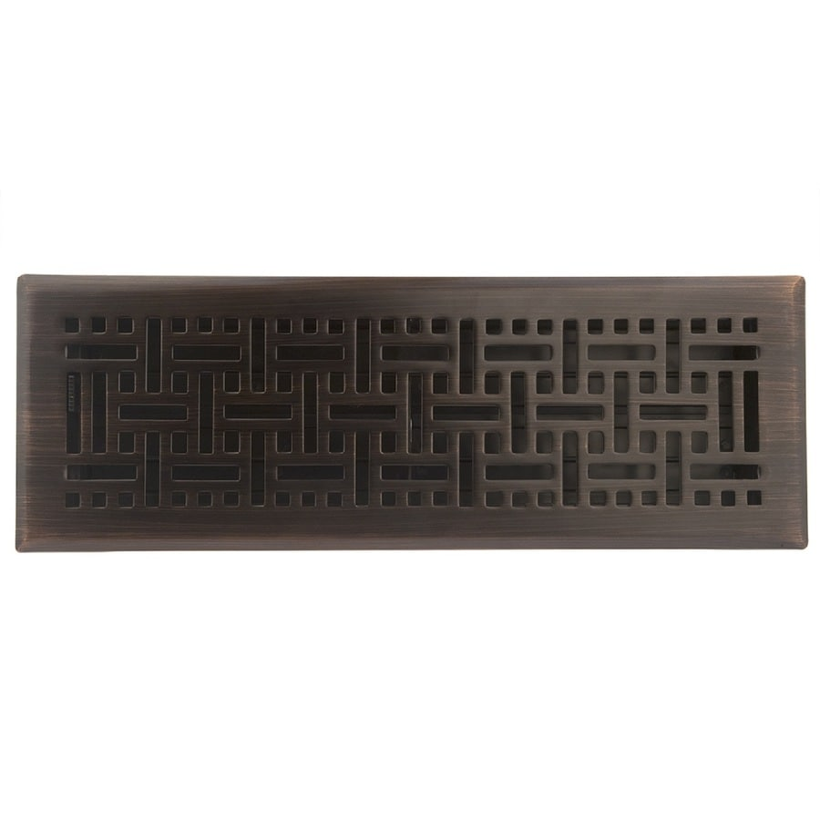 allen + roth Wicker Oil-Rubbed Bronze Steel Floor Register (Rough Opening: 14-in x 4-in; Actual: 15.42-in x 5.37-in)