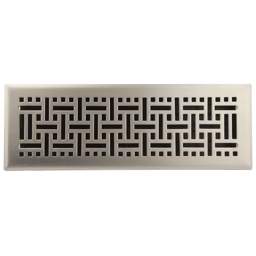 allen + roth Wicker Satin Nickel Steel Floor Register (Rough Opening: 14-in x 4-in; Actual: 15.42-in x 5.37-in)