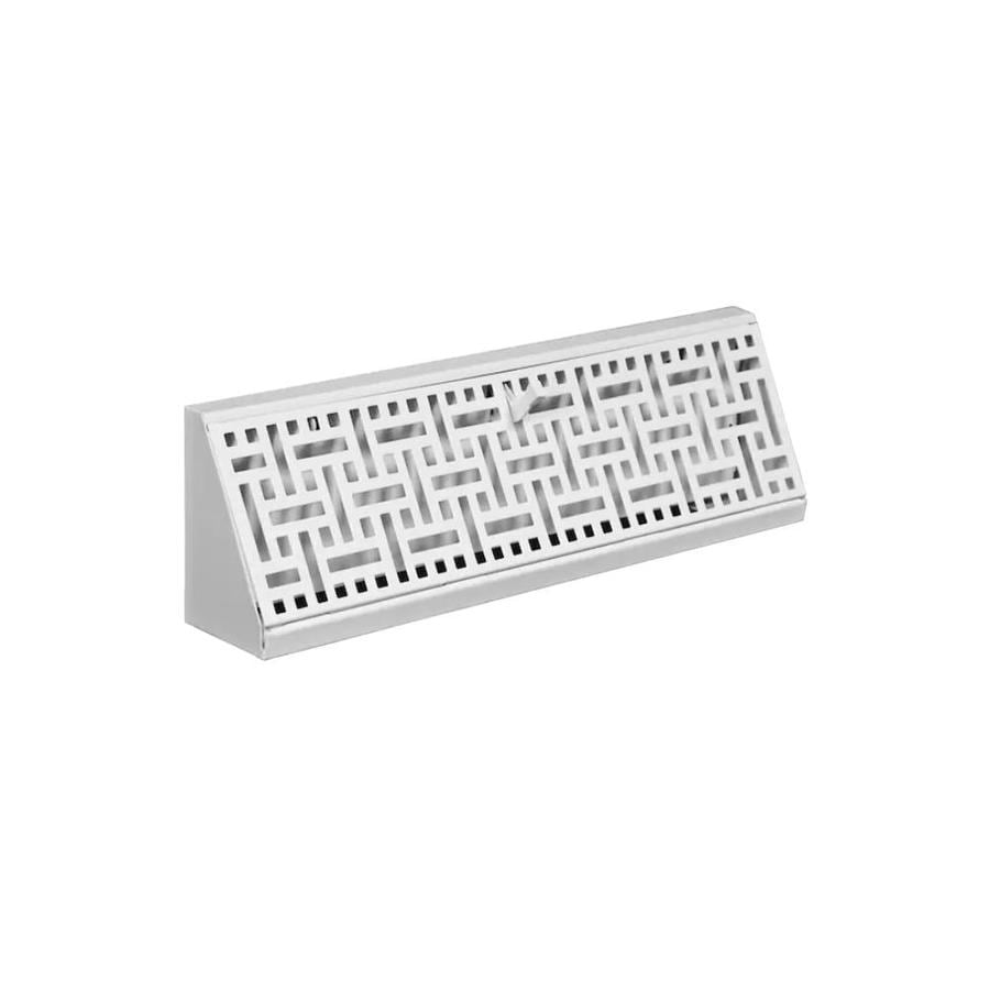 Accord Select Wicker White Steel Baseboard Register (Rough Opening: 4.5-in x 15-in; Actual: 15.05-in x 4.5-in)
