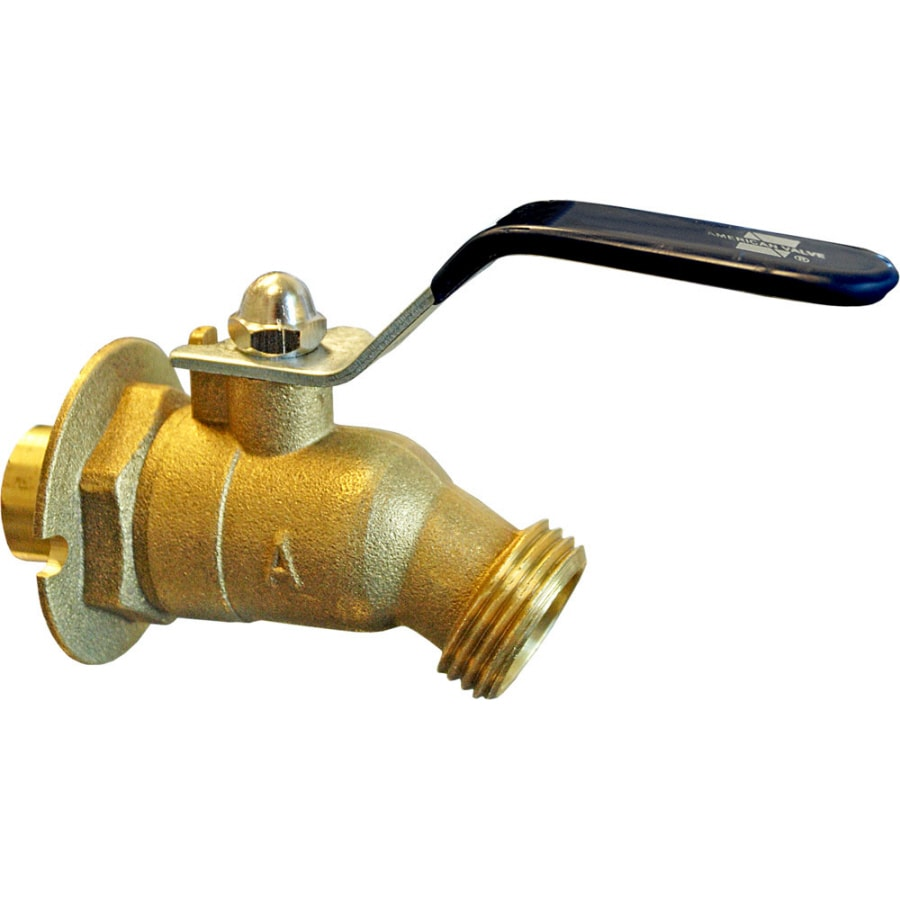 AMERICAN VALVE Sillcock 5-in L x 1/2-in Sweat Brass Quarter Turn Sillcock