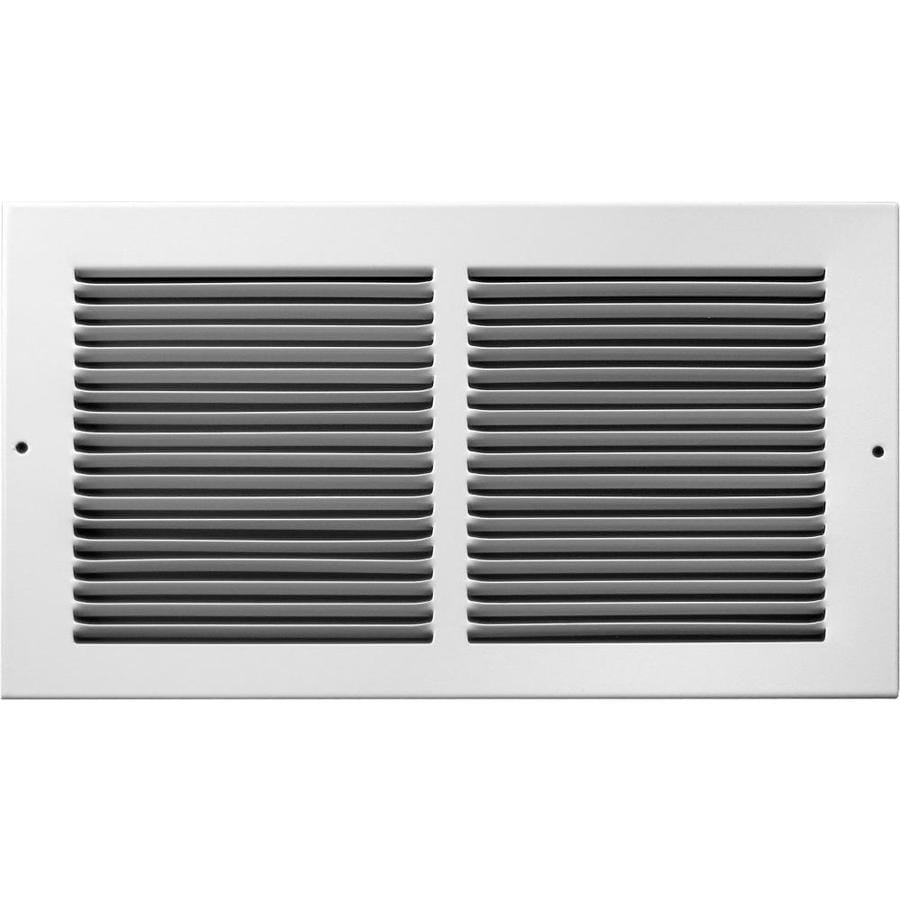 Accord 195 Series White Steel Louvered Baseboard Grilles (Rough Opening: 14.0-in x 6.0-in; Actual: 15.75-in x 7.75-in)