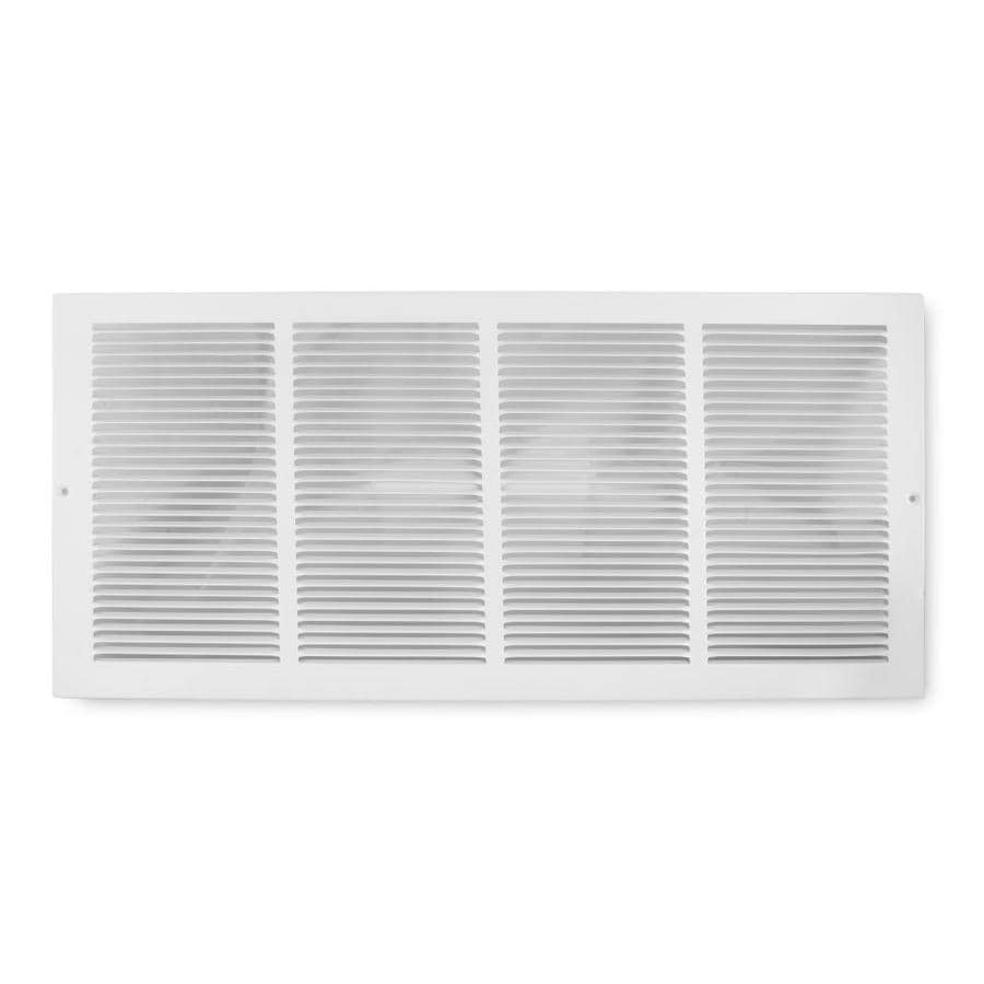 Accord Ventilation 195 Series White Steel Louvered Baseboard Grilles (Rough Opening: 24-in x 6-in; Actual: 25.75-in x 7.75-in)