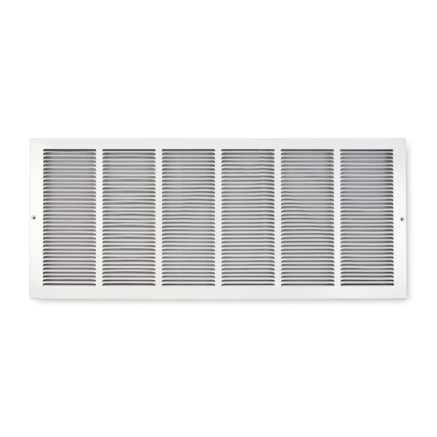 Accord Ventilation 195 Series White Steel Louvered Baseboard Grilles (Rough Opening: 30-in x 6-in; Actual: 31.75-in x 7.75-in)
