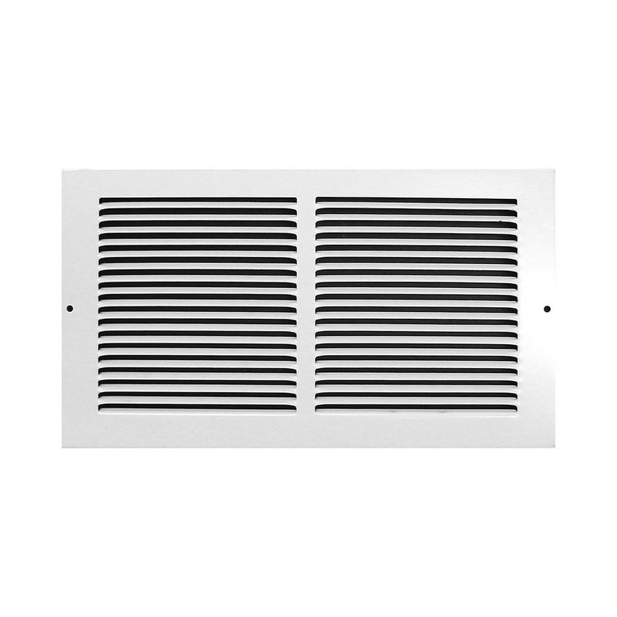 Accord Baseboard Return White Steel Louvered Baseboard Grille (Rough Opening: 30-in x 8-in; Actual: 31.75-in x 9.75-in)
