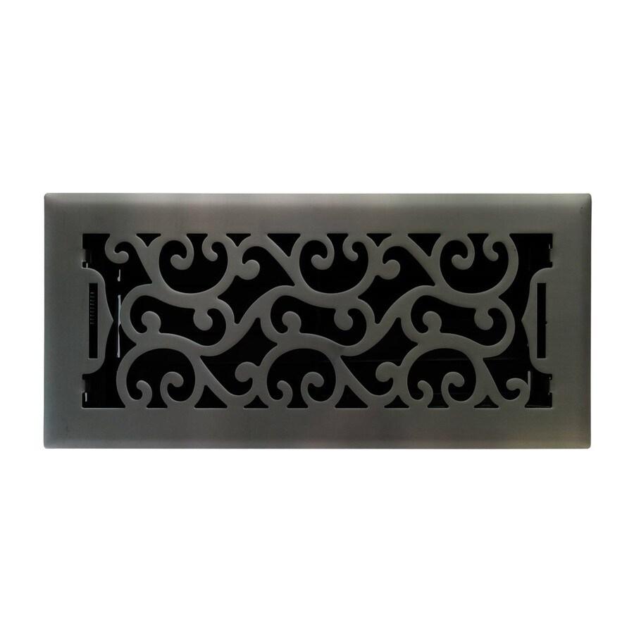 Accord Select Charleston Matte Steel Floor Register (Rough Opening: 4-in x 10-in; Actual: 11.42-in x 5.38-in)