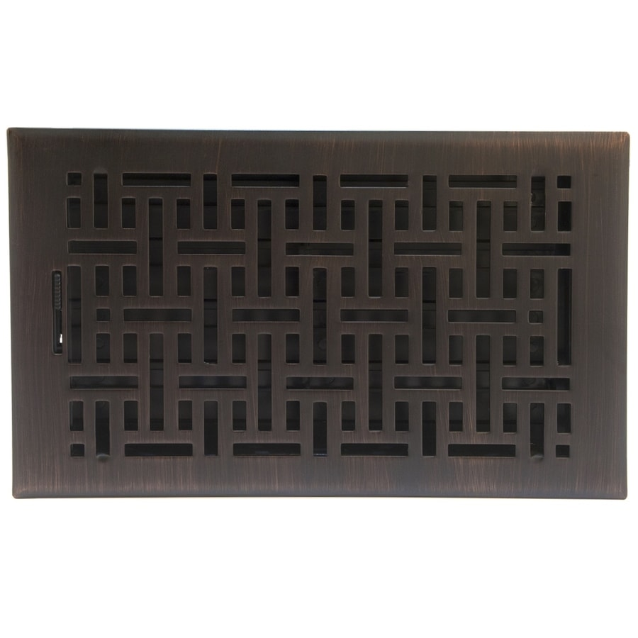 High Quality Accord Select Wicker Oil Rubbed Bronze Steel Floor Register (Rough Opening:  10.0