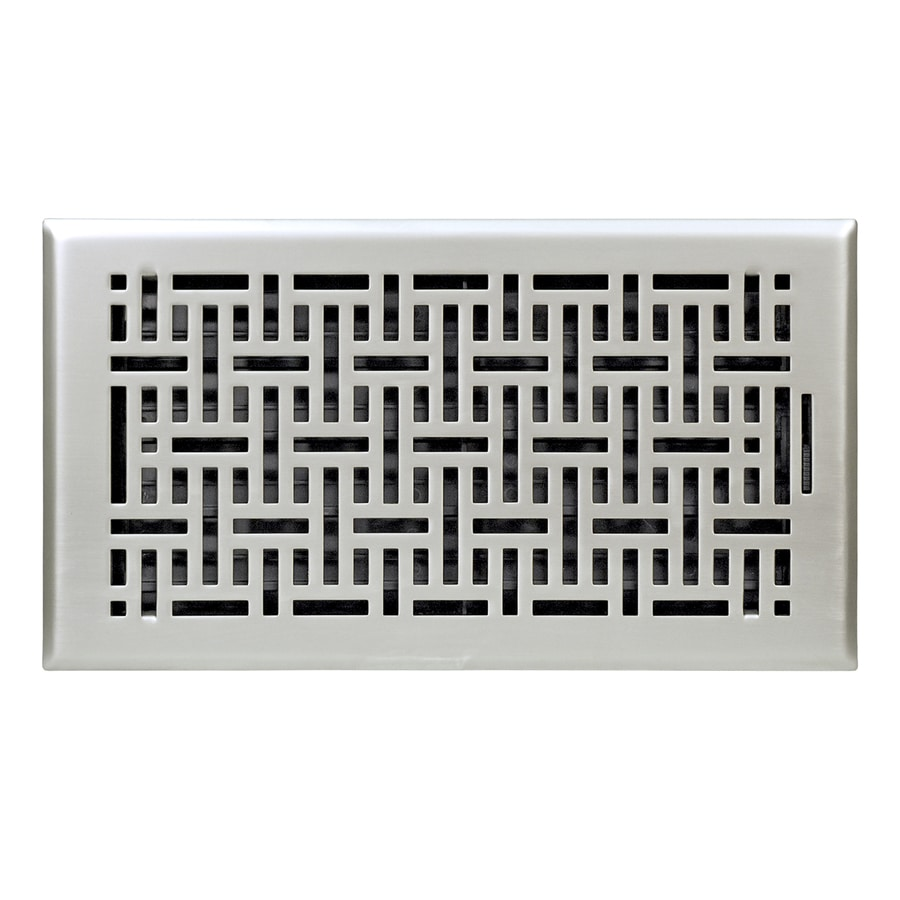 Accord Wicker Satin Nickel Steel Floor Register (Rough Opening: 12 In X 6