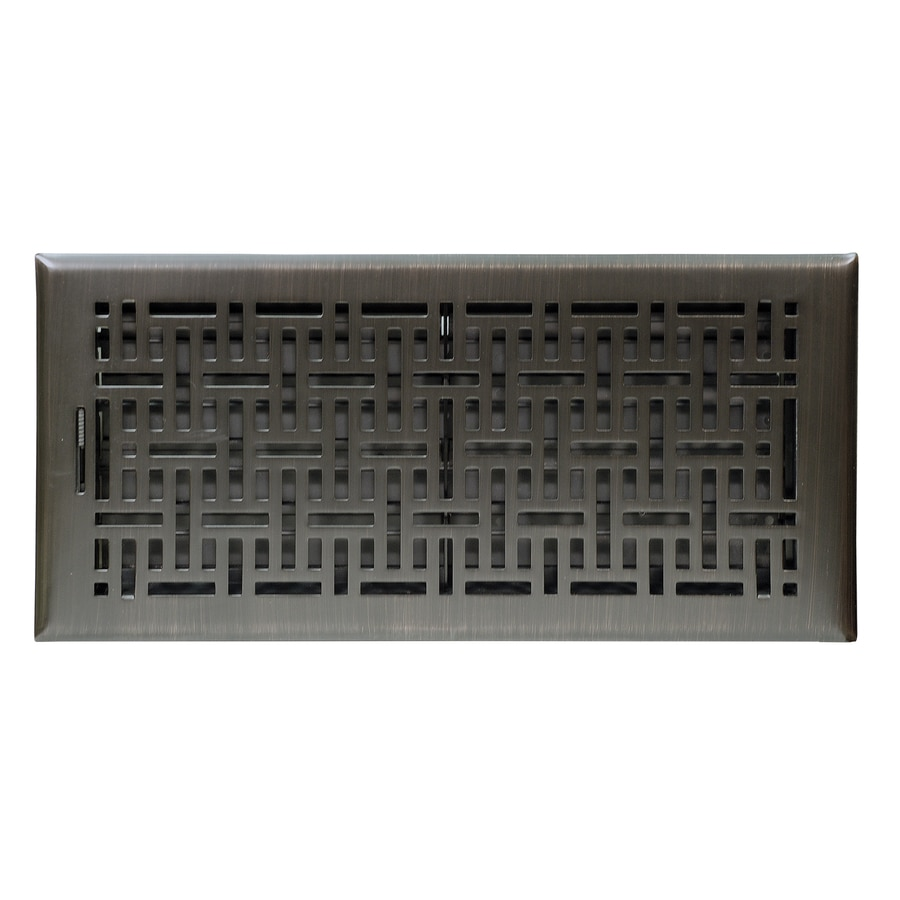 Accord 6-in x 14-in Oil-Rubbed Bronze Steel Floor Register