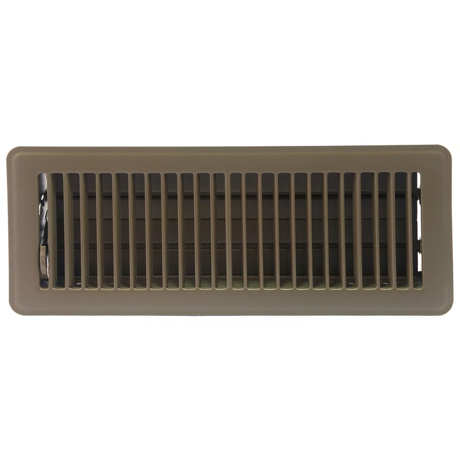 Accord Ventilation 101 Series Painted Steel Floor Register (Rough Opening: 10.0-in x 3.0-in; Actual: 11.5-in x 4.5-in)