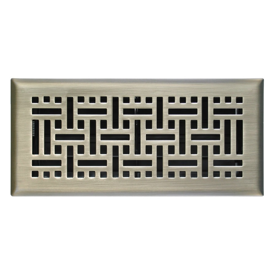 Accord Select Wicker Satin Nickel Steel Floor Register (Rough Opening: 10-in x 3-in; Actual: 4.5-in x 11.5-in)