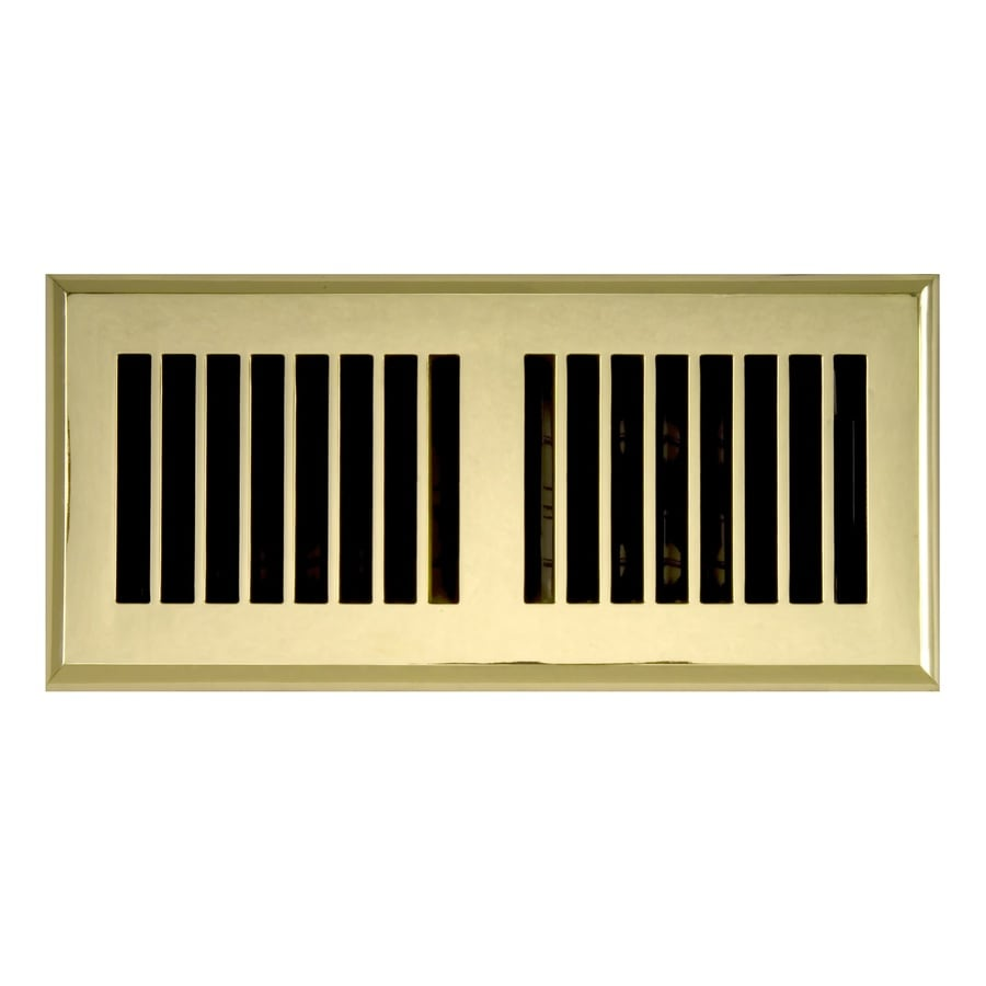 Accord Select Louvered Polished Brass Floor Register Duct