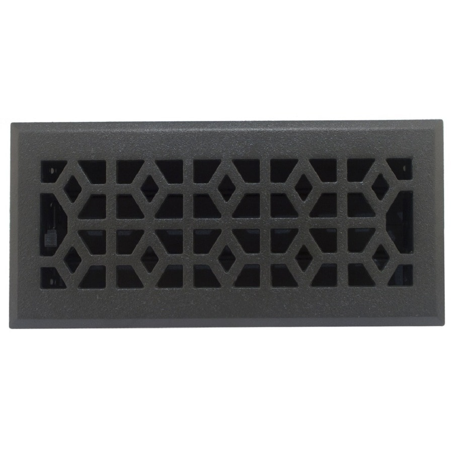 Accord Select Marquis Cast Iron Floor Register (Rough Opening: 10.0-in x 4.0-in; Actual: 11.42-in x 5.36-in)