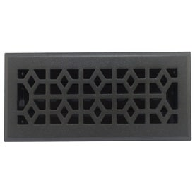Accord Select Marquis Pewter Cast Iron Floor Register Duct Opening 4 In X