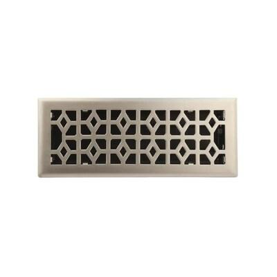 Accord Select Marquis Satin Nickel Floor Register Duct