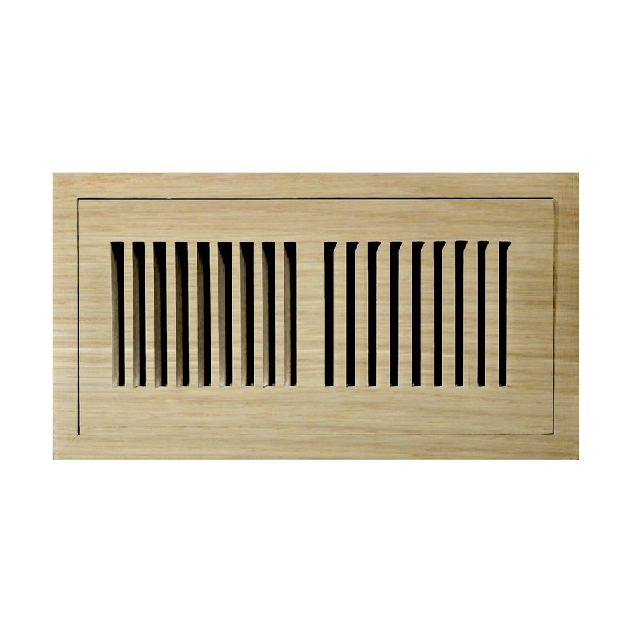 Accord 4-in x 8-in Unfinished Wood Floor Register