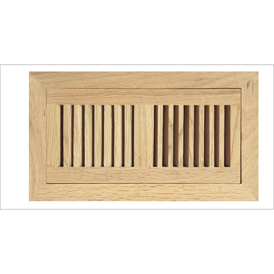 Accord Select Oak Unfinished Wood Floor Register (Rough Opening: 12-in x 4-in; Actual: 6.8-in x 14.46-in)