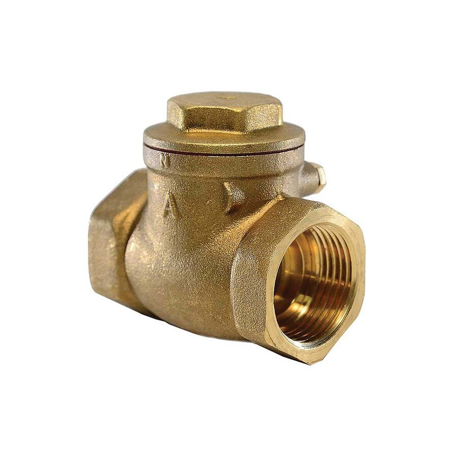 AMERICAN VALVE 1-1/4-in Brass Female In-Line Check Valve