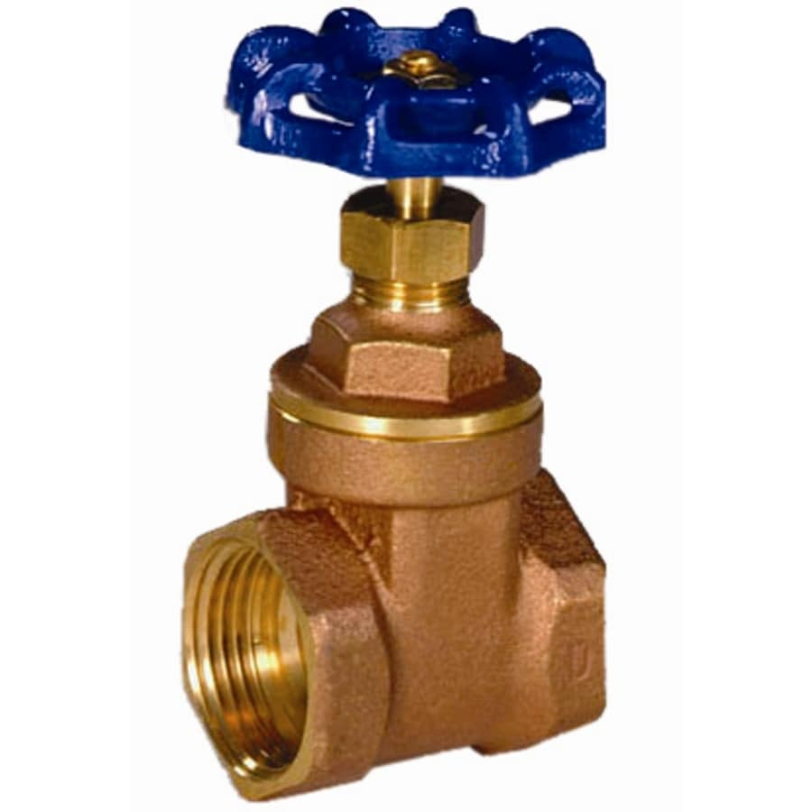 AMERICAN VALVE 1/2-in Brass Female In-Line Gate Valve with Integral Stop