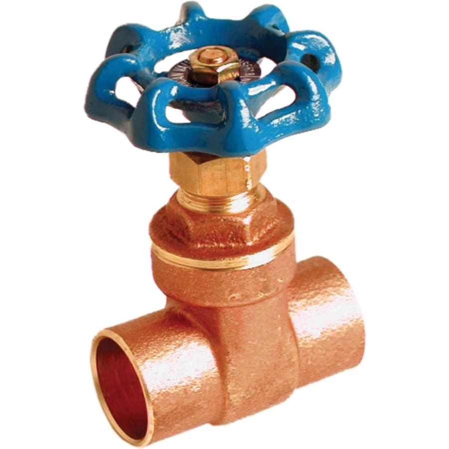 AMERICAN VALVE 1/2-in Brass Sweat In-Line Gate Valve with Integral Stop