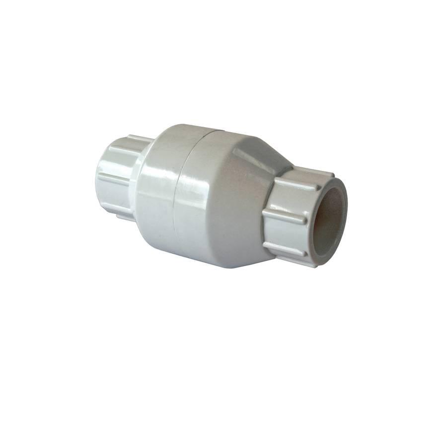 AMERICAN VALVE PVC Sch 40 1/2-in Socket PVC In-line Check Valve