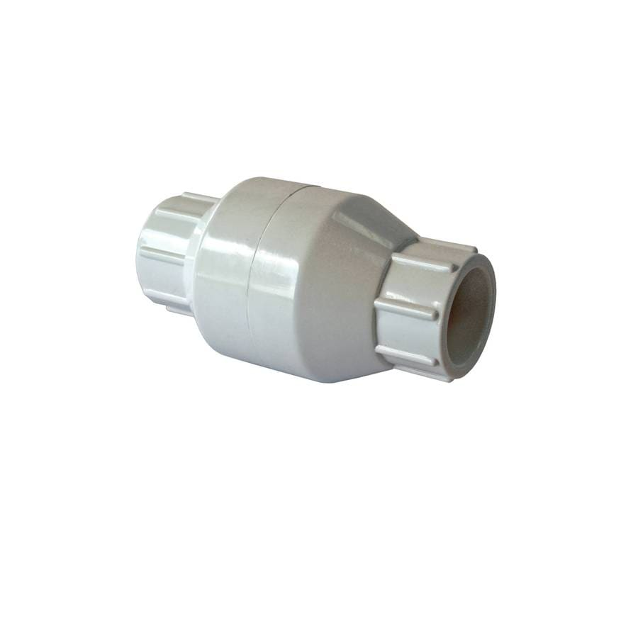 AMERICAN VALVE PVC Sch 40 1-1/4-in Socket PVC In-line Check Valve