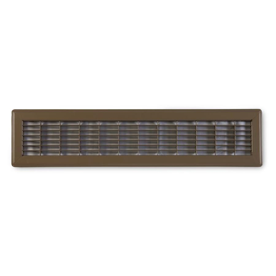 Accord Ventilation 120 Brown Steel Louvered Floor Grilles (Rough Opening: 4-in x 14-in; Actual: 5.73-in x 15.73-in)