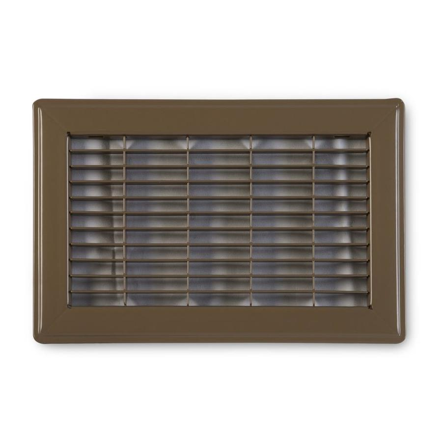Accord Ventilation 120 Series Brown Steel Louvered Floor Grilles (Rough Opening: 8-in x 14-in; Actual: 9.73-in x 15.73-in)