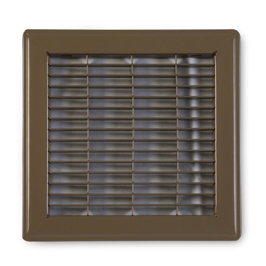 Accord Ventilation 120 Series Brown Steel Louvered Floor Grilles (Rough Opening: 10-in x 10-in; Actual: 11.73-in x 11.73-in)