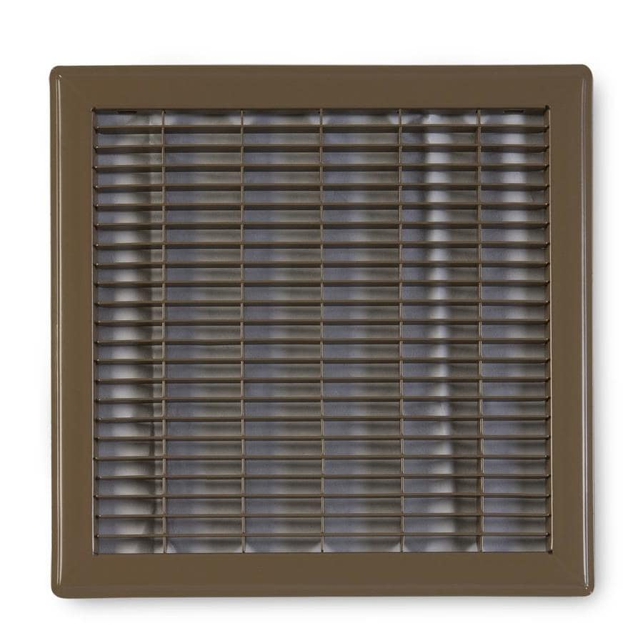 Accord Ventilation 120 Series Brown Steel Louvered Floor Grilles (Rough Opening: 12-in x 12-in; Actual: 13.73-in x 13.73-in)
